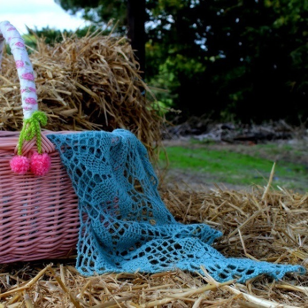 crochet sea glass shawl
