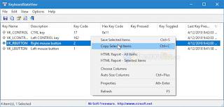برنامج اختبار لوحة المفاتيح والماوس واكتشاف الاعطال KeyboardStateView
