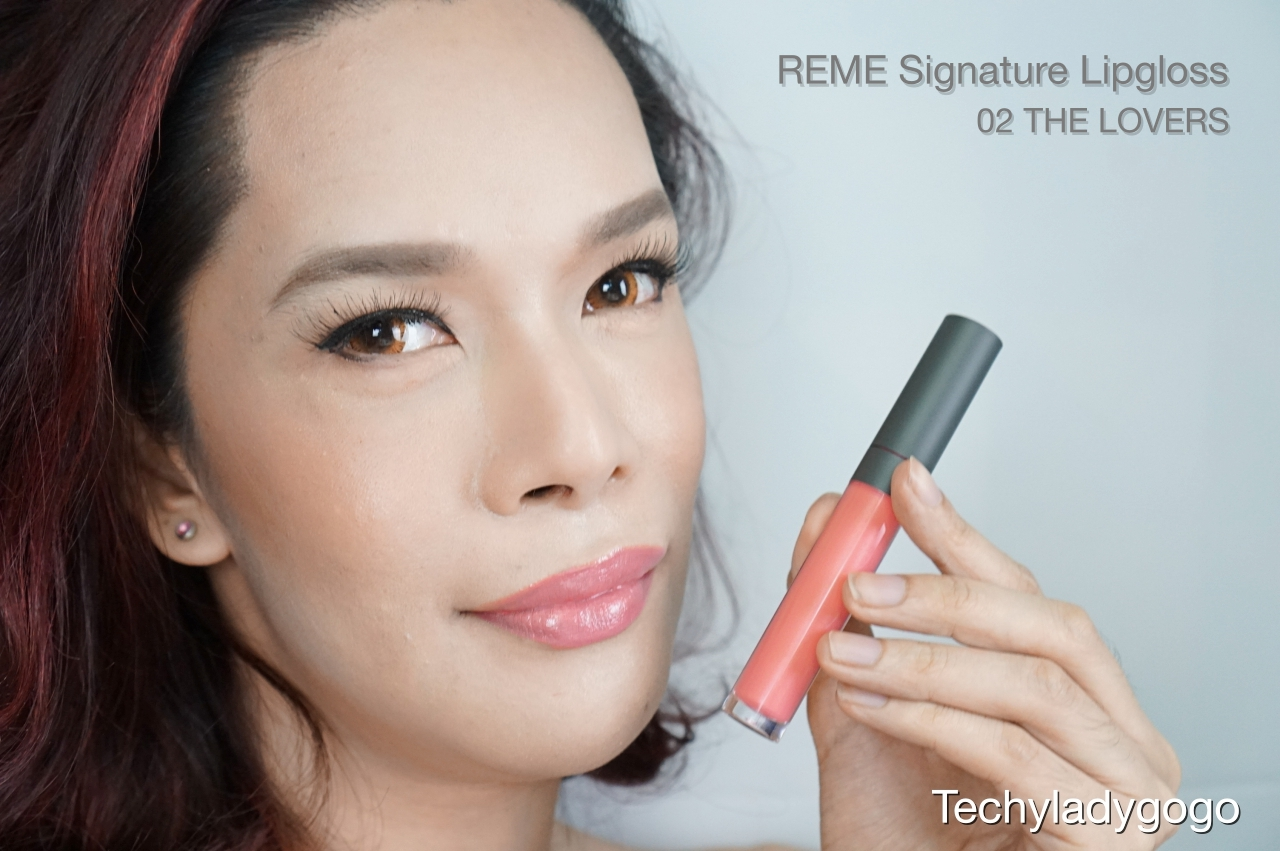 Techyladygogo ทา Reme Signature Lipgloss สี 02 The Lovers