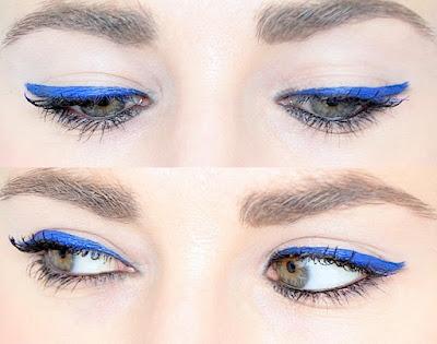 liner éléctrique bleu Make-up Été