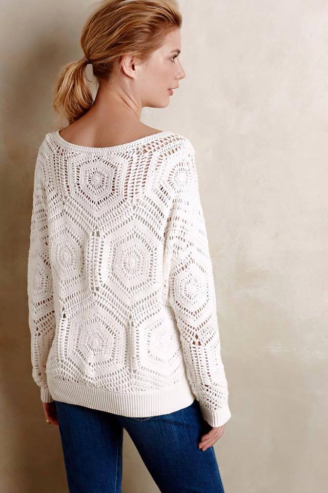 a9e4d8c34 Free Crochet Pattern and Instructions for Anthropology Pullover ...