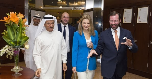 Bae Visit Of Princess Stephanie And Prince Guillaume Last