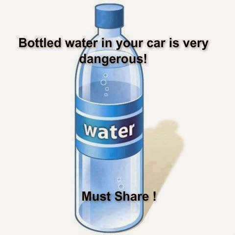 Bottled water in your car is very dangerous!
