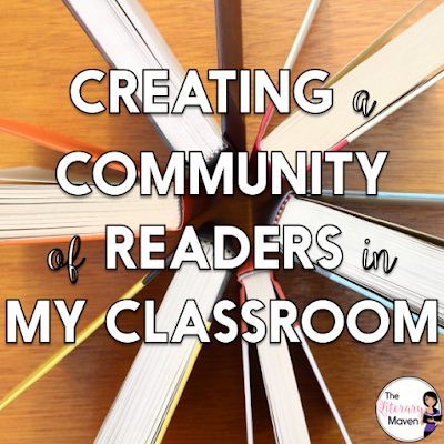 As I head back into the classroom this year, I'm overwhelmed with all of the things I'd like to try out and do, but I'm trying to stay focused on my goal of creating a community of readers. Read on for a few of the things I have planned to get my students hooked on reading.