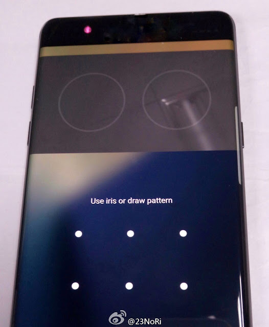 Leaked Samsung Galaxy Note 7 images shows iris scanning technology