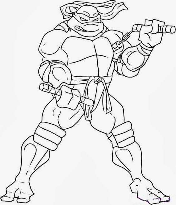 Tranh tô màu Ninja rùa 3