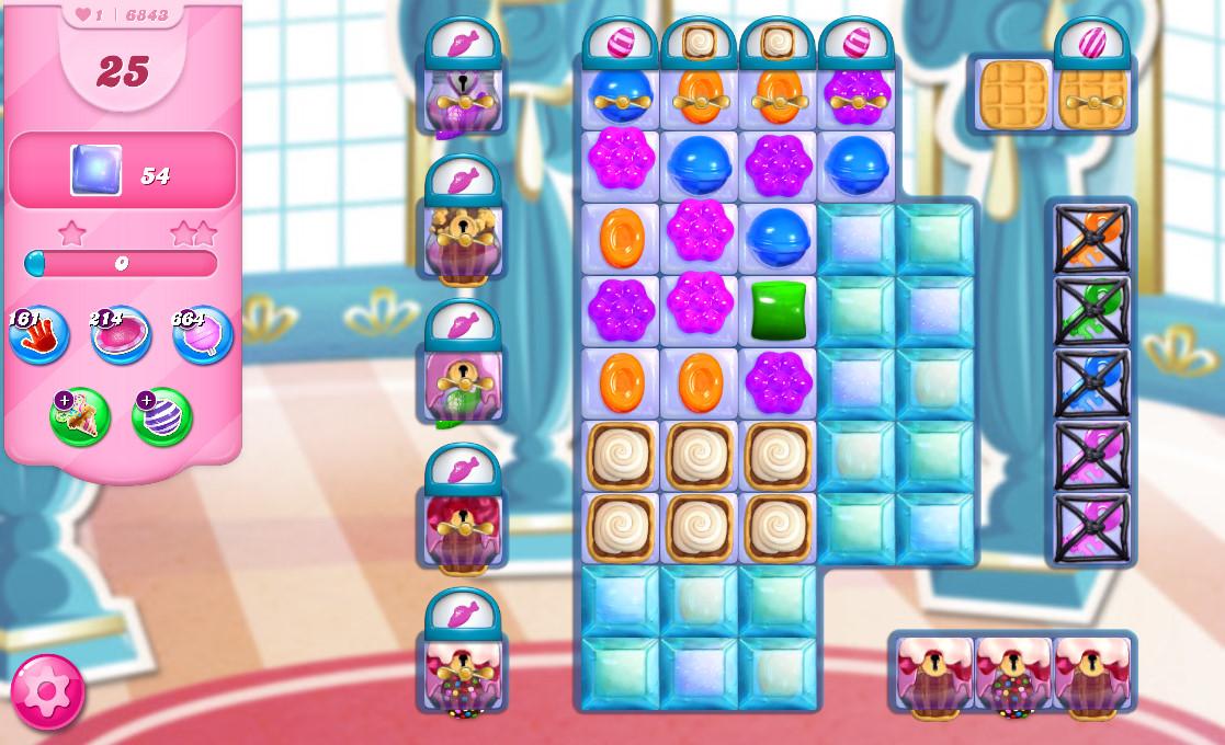 Candy Crush Saga level 6843
