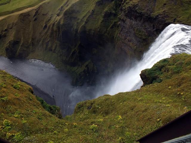 Skogafoss Islandia desde arriba