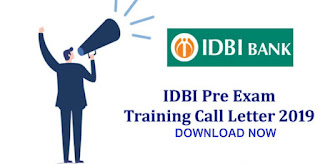 Pre-Exam Training Call Letters is Out- DOWNLOAD NOW