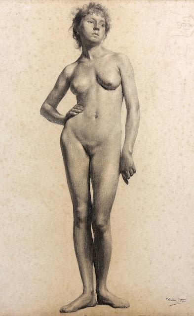 Carlos Baca-Flor - nudo accademico - sex art - disegni