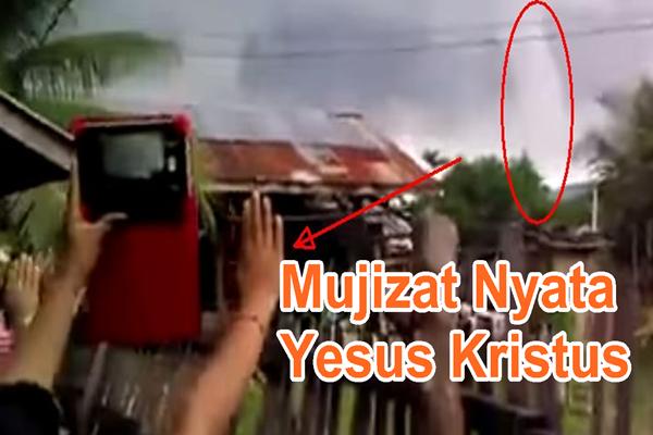 Sungguh nyata! Lihat video ketika Tuhan Yesus menghentikan tornado besar di Filipina