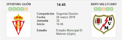 Sporting Gijón vs Rayo Vallecano en VIVO