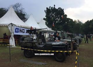 Jeep dengan aksesoris senjata lengkap di Jambore American Jeep 2018 Cibubur