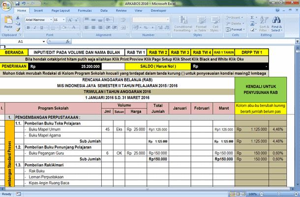 Aplikasi Rencana Kegiatan dan Anggaran serta Pelaporan BOS Madrasah
