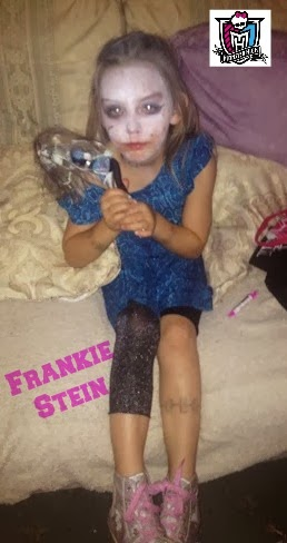 Halloween 2013 Party Monster High Frankie Stein Dress Up Face Paint