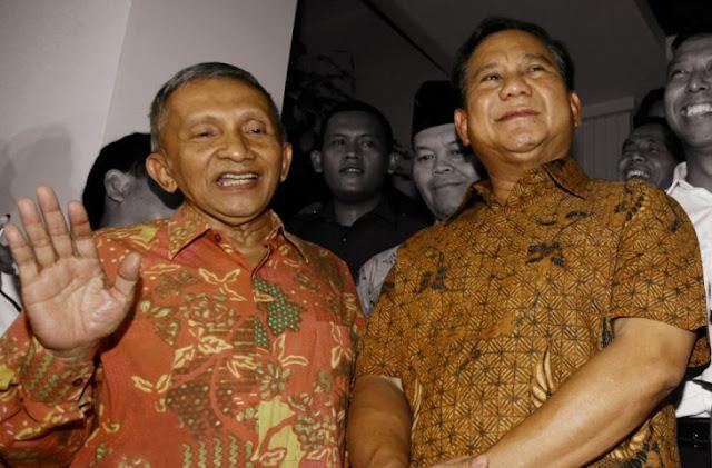 PDI-P Dukung Skenario Prabowo-Amien Rais di Pilpres 2019