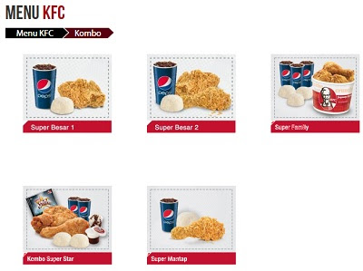Tabel Menu KFC Terbaru