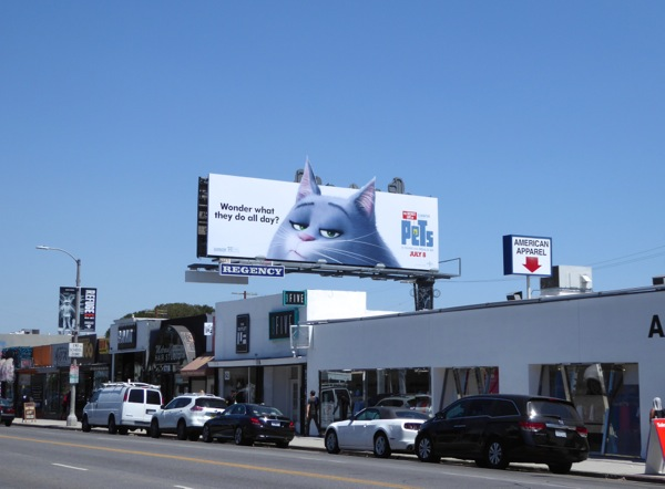 Secret Life of Pets cat billboard