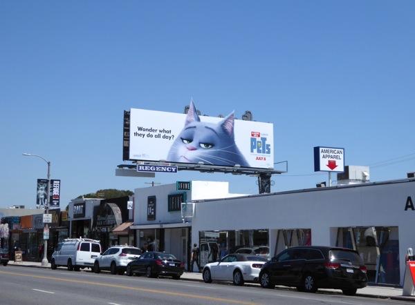 Secret Life of Pets cat billboard