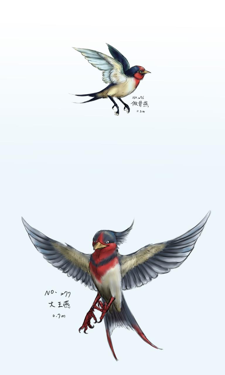 葉子的三號站: 「塗鴉」Pokemon鳥類圖鑑
