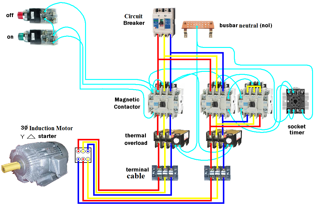 Dol starter motor wiring diagram wiring diagram d o l starter motor wiring diagram star delta electrical rh electricalupdates1 blogspot com direct online motor starter wiring diagram dol starter schematic asfbconference2016 Image collections