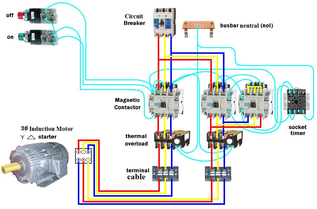 D O L Starter Motor Wiring Diagram  Star - Delta