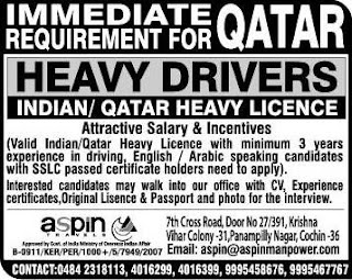 Heavy Drivers jobs in Qatar