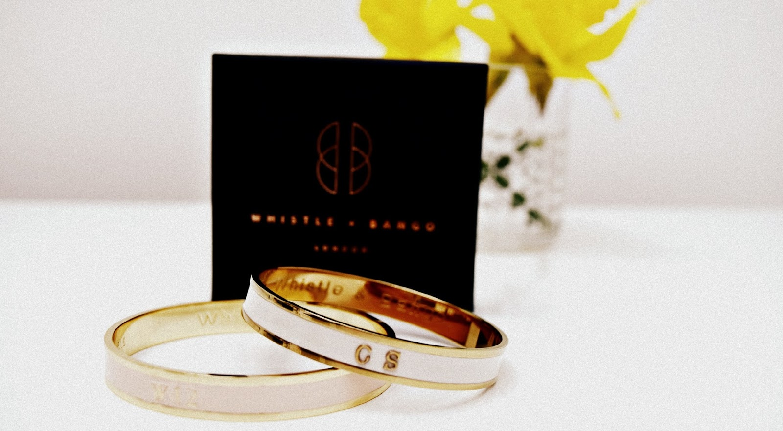 Whistle and Bango customised embossed bangle