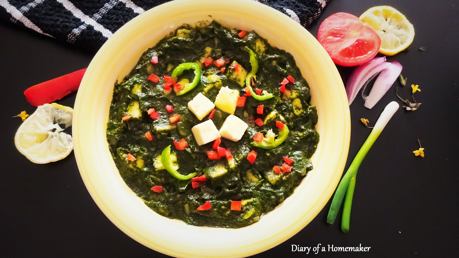 Diary of a homemaker delicious home cooked recipe collection palak palak paneer forumfinder Gallery