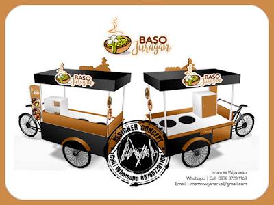 produksi gerobak sepeda baso juragan