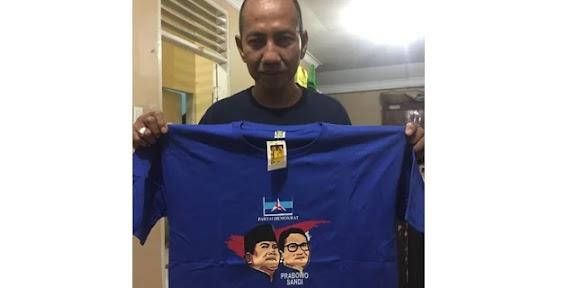 """Kaos Kesetiaan"" Wak Ong Tanda Loyalitas Demokrat Pada Prabowo-Sandi"