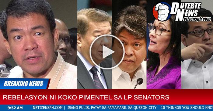 Napakalaking Rebelasyon Ang Inilabas ni Sen.Koko Pimentel Kung Bakit Sinipa sa Senado Ang Mga LP Senators