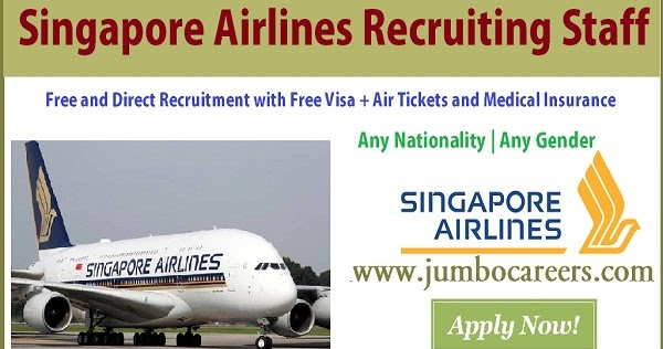 Singapore Airlines Hiring Ground Handling Staff For