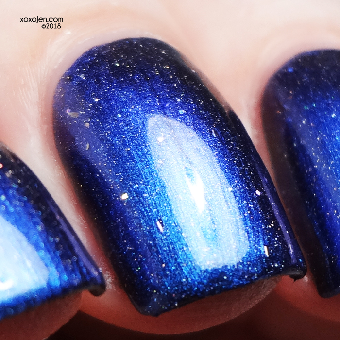 xoxoJen's swatch of Twisting Nether The North Pole Of Course!