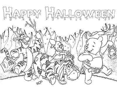 Disney Halloween Coloring Pages 8