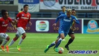 Persib Bandung Kalah 1-2 dari Bali United