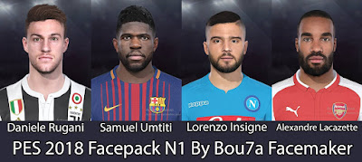 PES 2018 Facepack N1 By Bou7a Facemaker