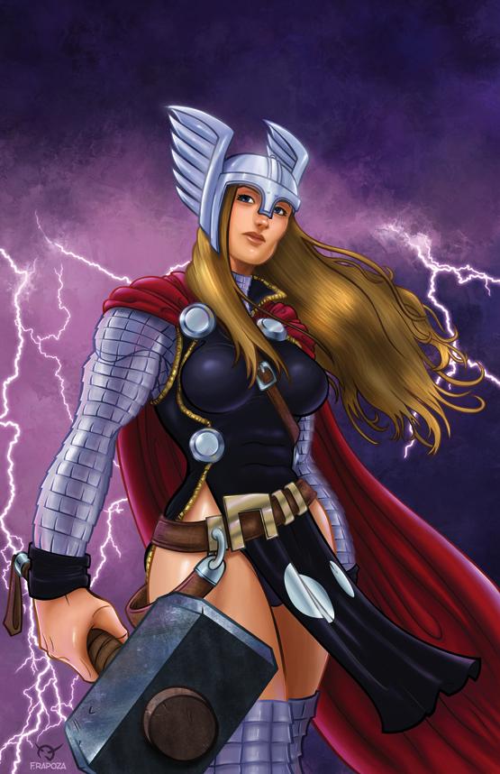Female Thor Marvel Traffic Club