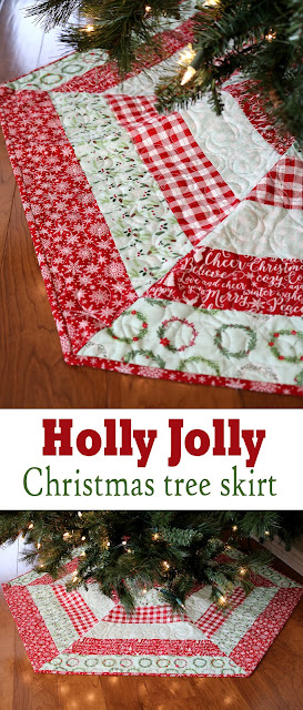 Holly Jolly Christmas Tree Skirt by A Bright Corner
