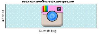 Etiquetas de Fiesta de Instagram para imprimir gratis.