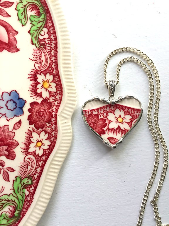 Broken plate necklace by Laura Beth Love Dishfunctional Designs