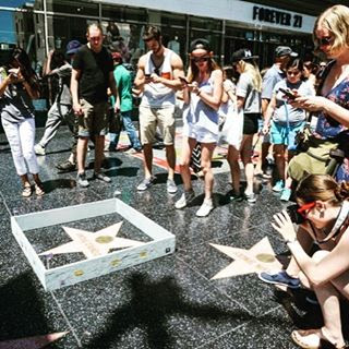 donald trump walk of fame star wall