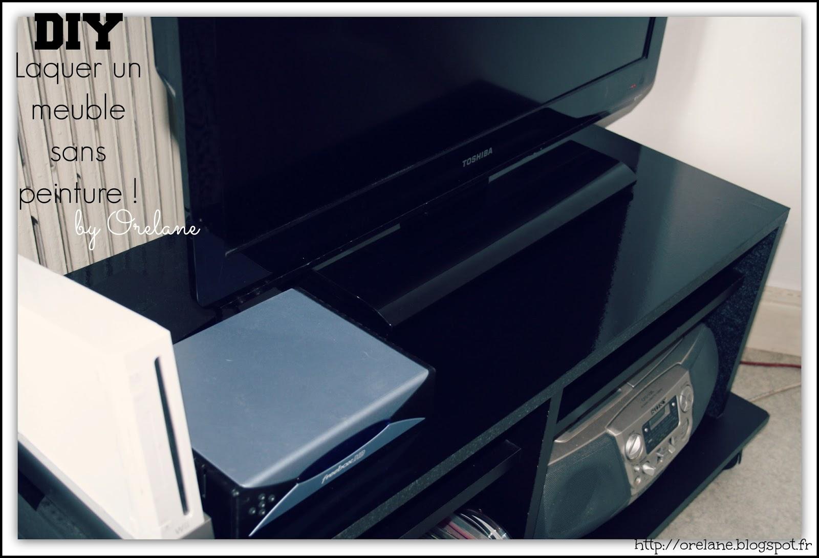 orelane diy laquer un meuble sans peinture. Black Bedroom Furniture Sets. Home Design Ideas