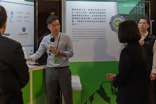 台灣資安館集結國內33家廠商聯合展出(圖片來源:總統府網站)