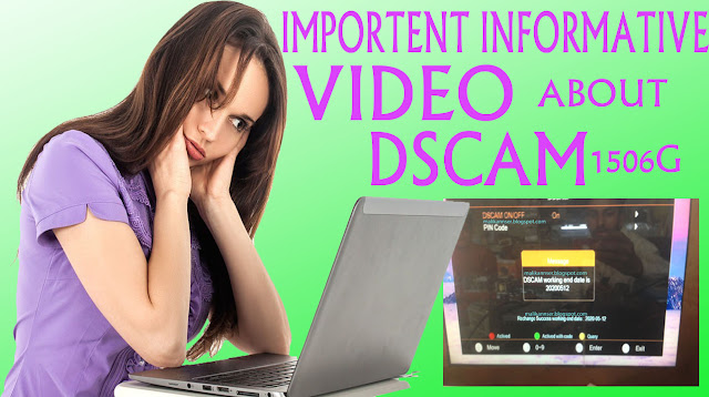IMPORTENT INFORMATION FOR DSCAM HOW TO ENABLE YOUR DISABLE DSCAM FOR 1506G