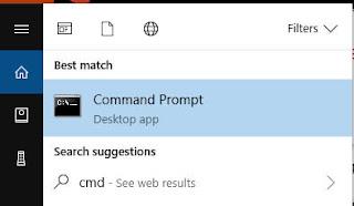 membuka command prompt