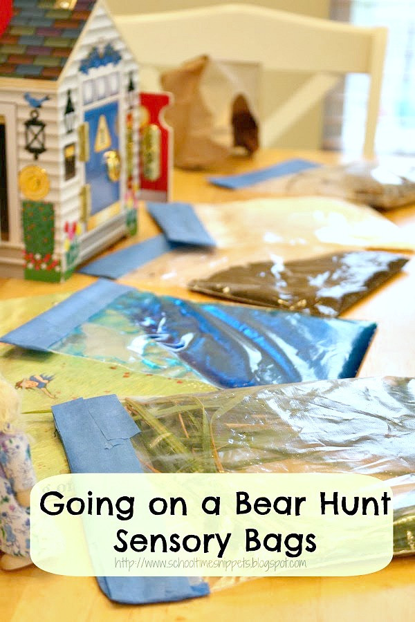 Going on a Bear Hunt Sensory Bags
