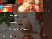BBM MOD Merry Christmas Tema Natal 2017 Apk v3.2.0.6 Transparan Terbaru