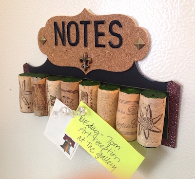 mini wine cork bulletin board lisa fulmer