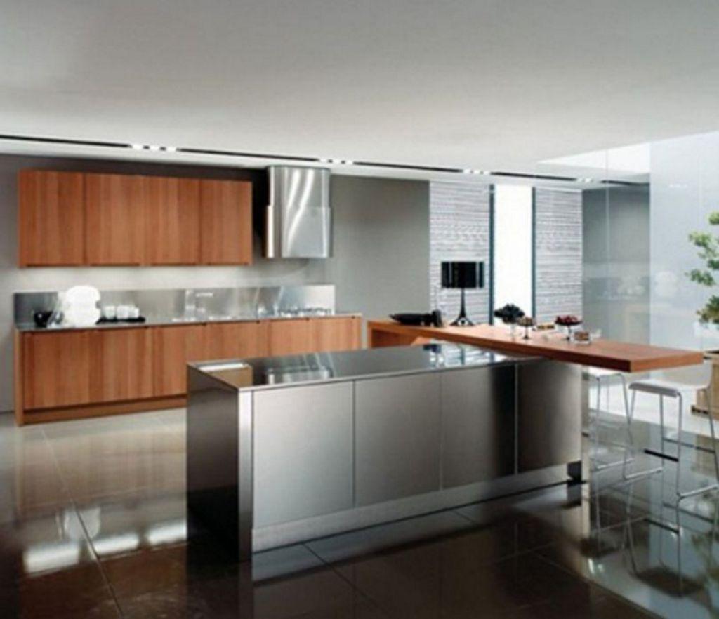 Ide Interior Untuk Dapur Dengan Meja Bar Terkini